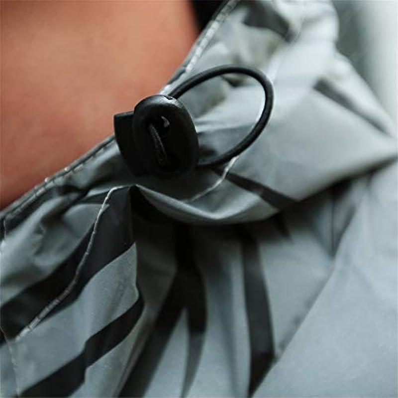 Gusspower_ męska 360 odblaskowa kurtka z kapturem, unisex, pełna odblaskowa kurtka w paski, kurtka przejściowa, kurtka do biegania, odblaskowa BA716: Odzież