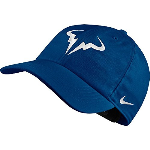 NIKE Unisex Aerobill Rafa Nadal Hat (Blue Jay/White)