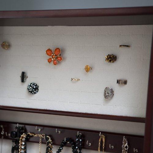 Belham Living Swivel Cheval Jewelry Armoire Cherry Jommm