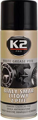 K2 Teflon Ptfe Schmiermittel Spray Teflonspray Weißes Fett 400ml Auto