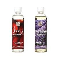 Hosley Set of 2 Apple Cinnamon and Lavender Fields Fragrance Warming Oils 6 Ounce. Ideal for spa Meditation Bathroom Settings O5