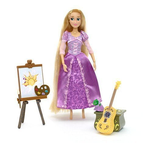 Rapunzel Deluxe Singing Doll - Includes Pascal, guitar and storage trunk figurines by -