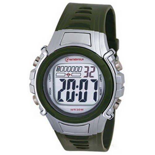Montre Concept - Relojes digitales hombre Mingrui - Correa Plástico Verde - Dial Redondo Fondo Gris: Amazon.es: Relojes