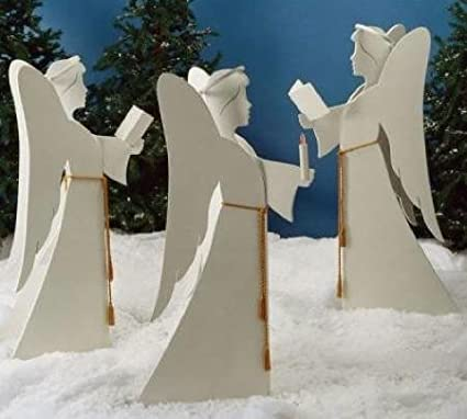 Woodworking Pattern and Instructions to Build a Angelic Chorus Yard Decoration