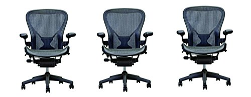 Qty 3 Herman Miller Aeron Chairs - Open Box -Size B Fully Loaded Posture Fit
