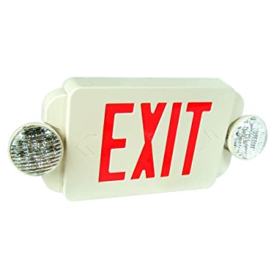 eTopLighting 2Packs of LED Red Exit Sign Emergency Light Combo with Battery Back-Up UL924 ETL listed, EL2BR-2