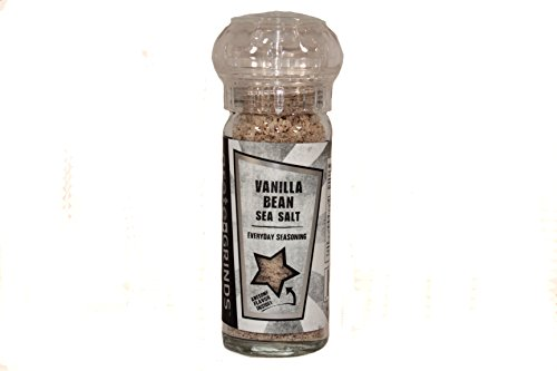 Vanilla Bean Sea Salt in a refillable spice grinder - Vanilla Salt