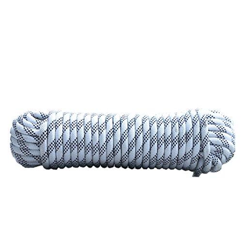オプション医薬品コテージ登山ロープ、白い直径10mm/12mm/14mm/16mmロッククライミングロープ、10M、15M、20M、30M、アウトドア探検エスケープレスキューロープ、高強度ナイロンロープ安全ロープ (色 : Diameter-12mm, サイズ さいず : 10M)
