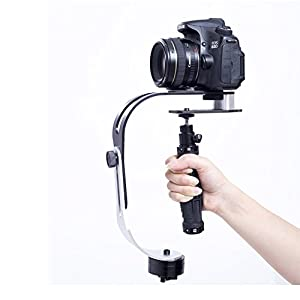 KOFANI PRO Handheld Video Camera Stabilizer Steady, Perfect for GoPro 5/4/3/3+, iPhone and Other Smartphone, Cannon, Nikon, Sony or any DSLR Camera up to 2.1 pounds (Black)
