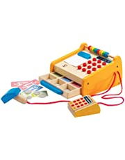 Hape E3121 Checkout Register Wooden Playset (37 Pieces)