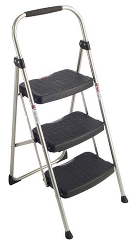 3-Step Stool, Slip-Resistant, 25-9/16