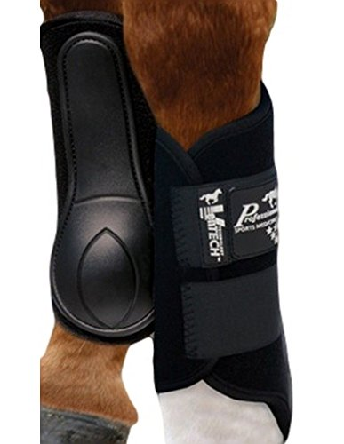 Professionals Choice Equine Ventech Splint Boot, Pair (Large, Black)