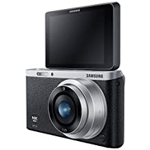 """Samsung NX Mini 20.5MP CMOS Smart WiFi & NFC Compact Interchangeable Lens Digital Camera with 9mm Lens and 3"""" Flip Up LCD Touch Screen (Black)"""