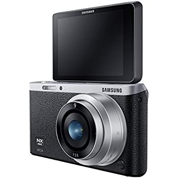 "Samsung NX Mini 20.5MP CMOS Smart WiFi & NFC Mirrorless Digital Camera with 9mm Lens and 3"" Flip Up LCD Touch Screen (Black)"