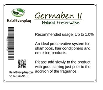 Germaben II - Natural Preservative - Clear Liquid Preservative - Great for  making lotion, cream