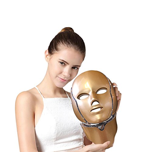 Photon Beauty Device - Pro-Nu Light Photon Facial Mask 7 Color For Anti-Aging skin Rejuvenation Face and Neck Beauty Device