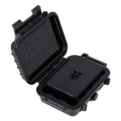 CASEMATIX Waterproof Travel Storage Box for Raspberry Pi 3 Cases - Protective Storage Cover for Raspberry Pi Barebone PC Cases Such as Canakit, Starter Kits and - Case Barebones