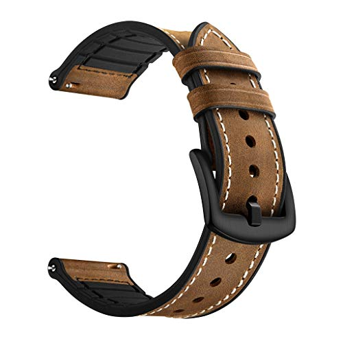 - Cathy Clara Wristband Replacement Genuine Leather Watch Band WristStrap for Huawei Watch GT Honor Magic Watch