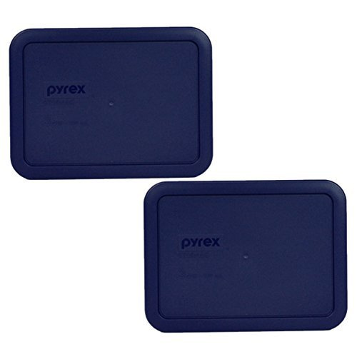 - Pyrex 7210-PC Rectangle Dark Blue 3 Cup Storage Lid for Glass Dish (2, Dark Blue)