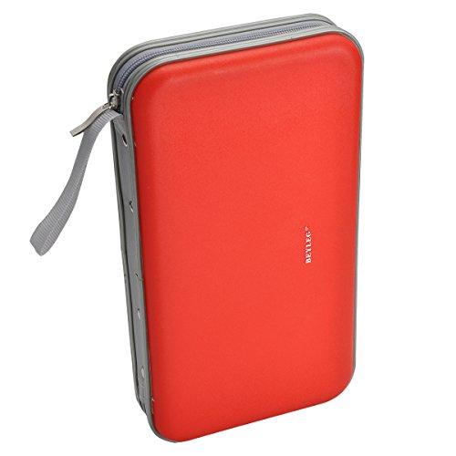 BEYLEG 70 Capacity Heavy Duty Cd Wallet, Red