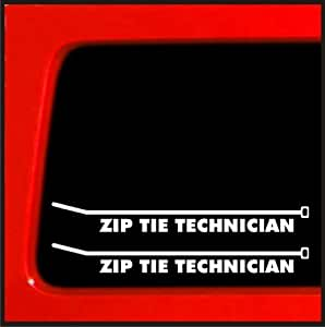 Amazon Com Zip Tie Technician Sticker Jdm English Decal