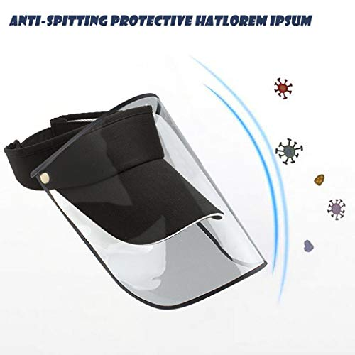 WEI MOLO@ Epidemic Protection Hat,2 in 1 Masks,Dust,Air Pollution,Anti-Spitting Isolation Anti-Pollution