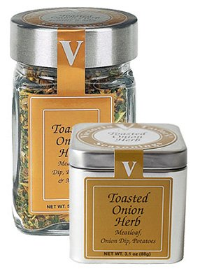 (Toasted Onion Herb - Victoria Taylor's 5 Oz Jar - Organic Spice Blend with Whole Garlic and Onion Flakes, excellent for every Homemade Recipe, throw out your old Bland Onion Powder - Delicious in any Roast or for any Grill, your kids will even like their Veggies now! - Makes the Perfect Onion Dip)