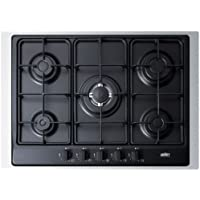 Summit GC5272BTK30 5 Sealed Burners Gas Cooktop in Matte Black