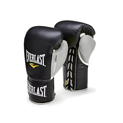 Image of Boxing Gloves Everlast PowerLock Pro Fight Gloves 10oz blk/Gry PowerLock Pro Fight Gloves