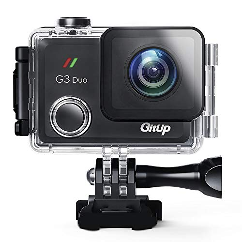 GitUp G3 Duo Action Camera 2160P 12MP Touch Screen Wi-Fi 170° Sports Cam with EIS 30m Waterproof Video Camcorder Support Remote Control and GPS Logger GitUp