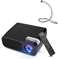 Android WiFi Projector, YOKKAO Portable HD LED Android 4.4 Wireless1080P 2600 Lumens(max) 800x480 Resolution Support USB/HDMI/TV or DTV/AV/YPBPR/VGA/Audio with lGB RAM/ 8GB ROM Quadcore