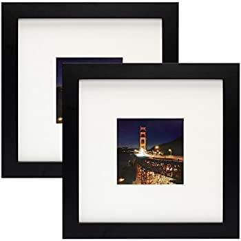 Amazon.com - Frametory, Set of 2 Black Square Instagram Photo Frame ...