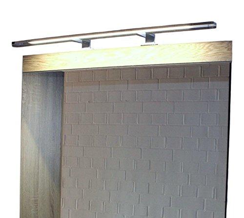 LED Spiegelleuchte ML020-740 Spiegellampe Aufbauleuchte aus verchromten Aluminium, 12W, tageslichtweiß