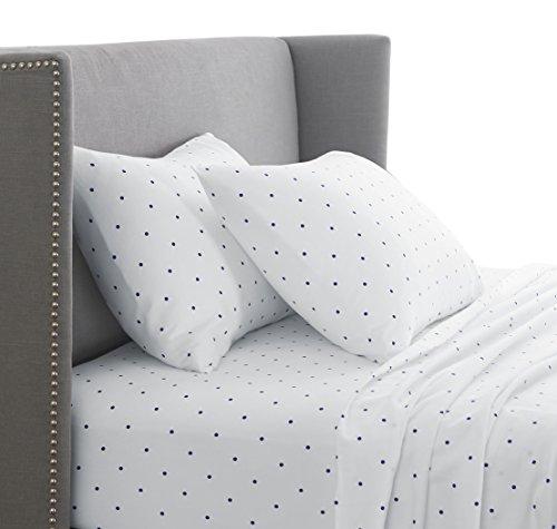 Pinzon 170 Gram Flannel Sheet Set - Full, Navy Dot