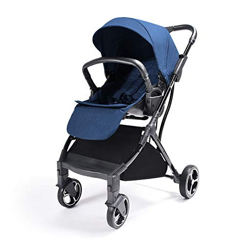 WY-Tong Prams Baby Pushchairs Folding Children's Car Light Trolley Baby Two-Way Flat High Landscape Baby Strolle