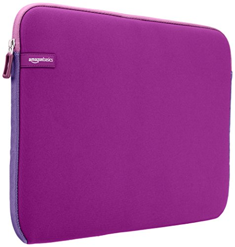 (AmazonBasics 15.6 Inch Laptop Computer Sleeve Case - Purple )
