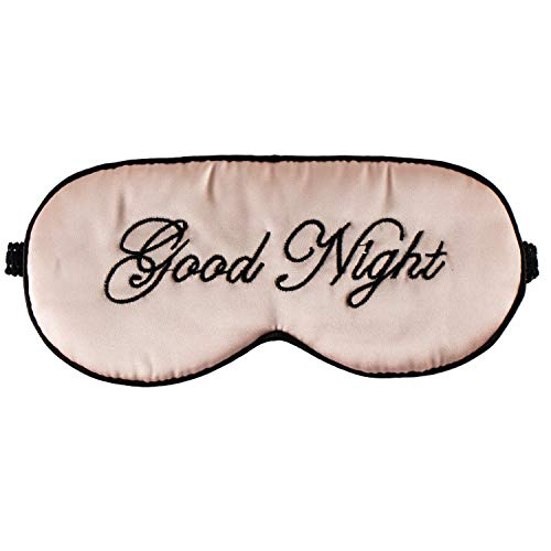 Healthy Silk Sleep Helper - Silk Sleep Eye Mask for Women and Men Soft Ladies Ultra Lightweight Adjustable Strap Satin Eye Night Blindfold Eyeshade Cover for Full Night's Sleep, Travel and Nap Pink