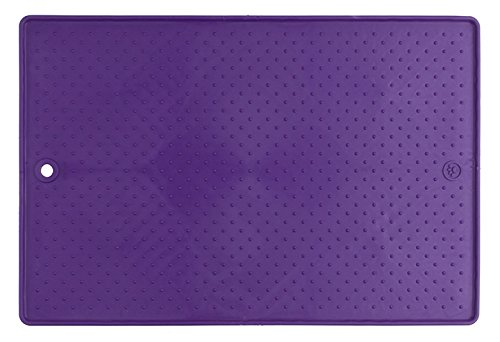 Dexas  Grippmat for Pet Bowls, 13 by 19 inches, Purple