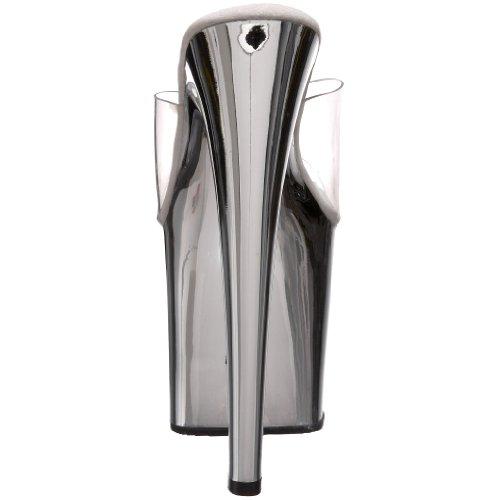 Pleaser Taboo-701, Women's Open Toe Sandals Silber (Silber (Clr/Slv Chrome))