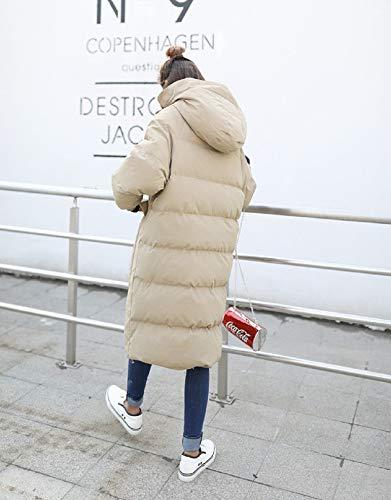 Pour De Pain Xwh Moyenne Et En Femmes Veste Longue sur Coton Étudiant Kaki Genou Le D'hiver Duvet Lâche x0BxqHIwY