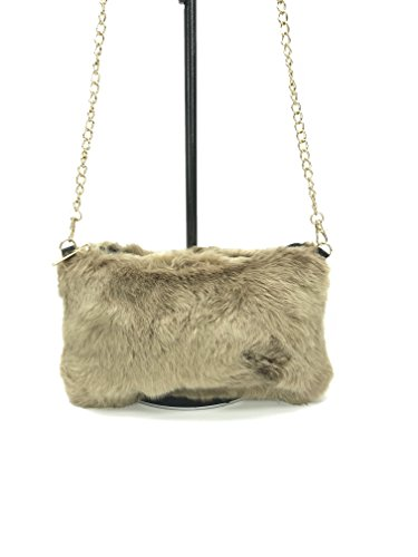pocket chain bag color fur gold and solid Camel faux zipper MIA GoodCape sling with series w0OvfRX