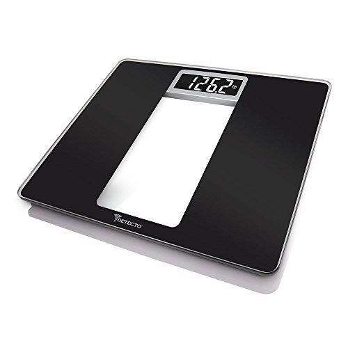 Detecto D121 Wide Body Glass Truwhite Lcd Digital Scale, Bla