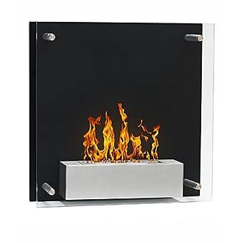 Squarebox-Chimenea de etanol (negro estufa, ecológico,) pared: Amazon.es: Hogar