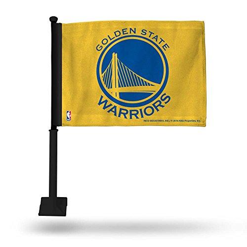 - Rico NBA Warriors Yellow Car Flag - Black Pole Sports Fan Automotive Flags, Multicolor, One Size