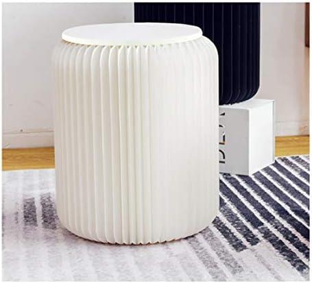 White Folding Paper Stool