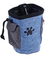 POPETPOP Pet Dog Training Treat Pouch Puppy Training Waist Bag Treat Snack Food Pouch (Blue)
