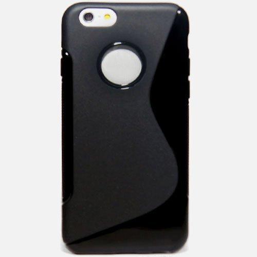 "Silikon Case für iPhone 6 6S Plus (5,5"" Zoll) - Schwarz Schutzhülle Cover Hülle"