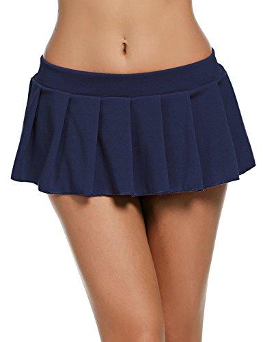 f2d51a1b232f1 Goldenfox Women Schoolgirl Pleated Sexy Mini Cosplay Skirt Ruffle Lingerie  Sleepwear S-XXL