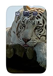 Catenaryoi Shock-dirt Proof White Tiger Case Cover Design For Galaxy S3 - Best Lovers' Gifts