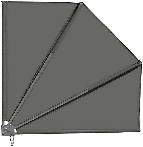 Royal Gardineer Balkon Sichtschutz Fächer 140x140, anthrazit